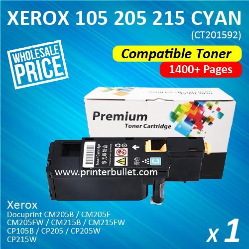 Fuji Xerox CP105 / CP205 / CM205 Cyan Compatible Colour Laser Toner Cartridge