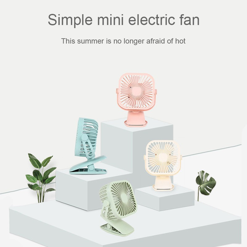 Led light USB fan office cooler gift clip creative portable mini handheld