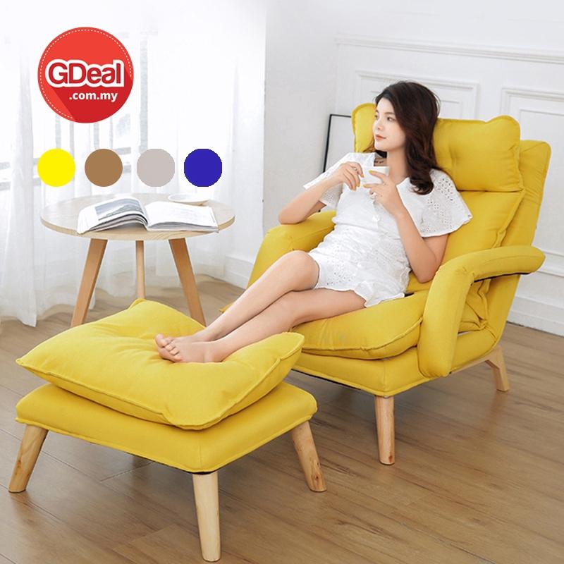 GDeal Lazy Folding Single Sofa Backrest Lounge Deck Chair Small Living Room Bedroom Bedside سوفا