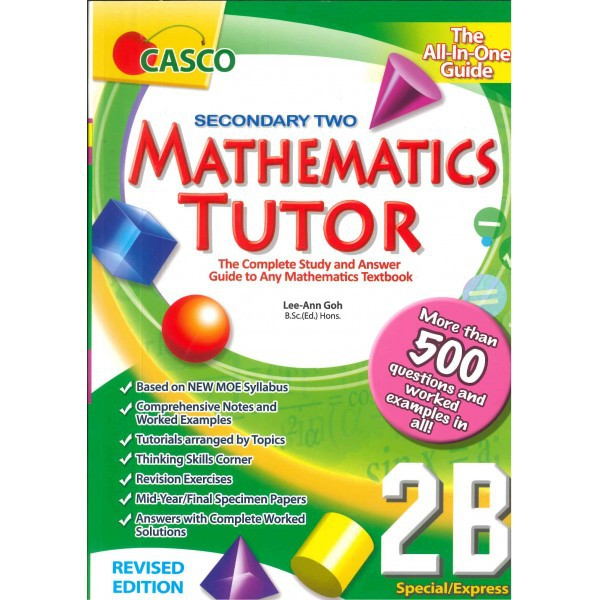 CASCO MATHEMATICS TUTOR - SINGAPORE ASSESSMENT SECONDARY 2
