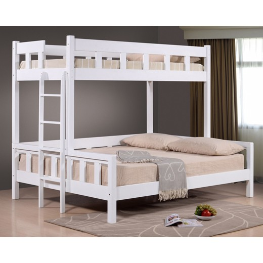 Lt1530 02 Single Over Queen Size Wooden Bunk Bed Shopee Malaysia