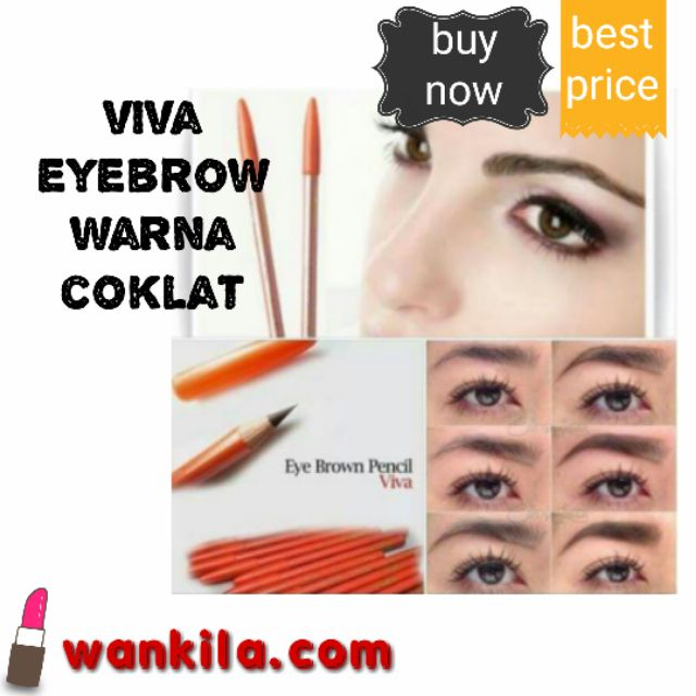 Viva Eyebrow Pencil Warna Coklat Gelap