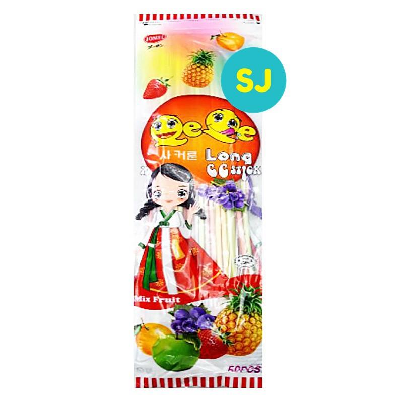 Jomei Qe Qe Long Cc Stick Mix Fruit 50pcs ( Candy)