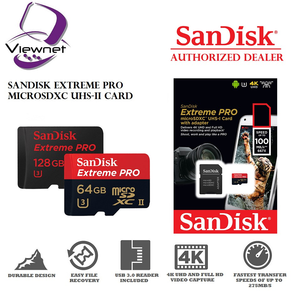 Sandisk 32gb Extreme Pro Sd Uhs Ii Card 300mb S Sdsdxpk 032g 64gb Gn4in Shopee Malaysia