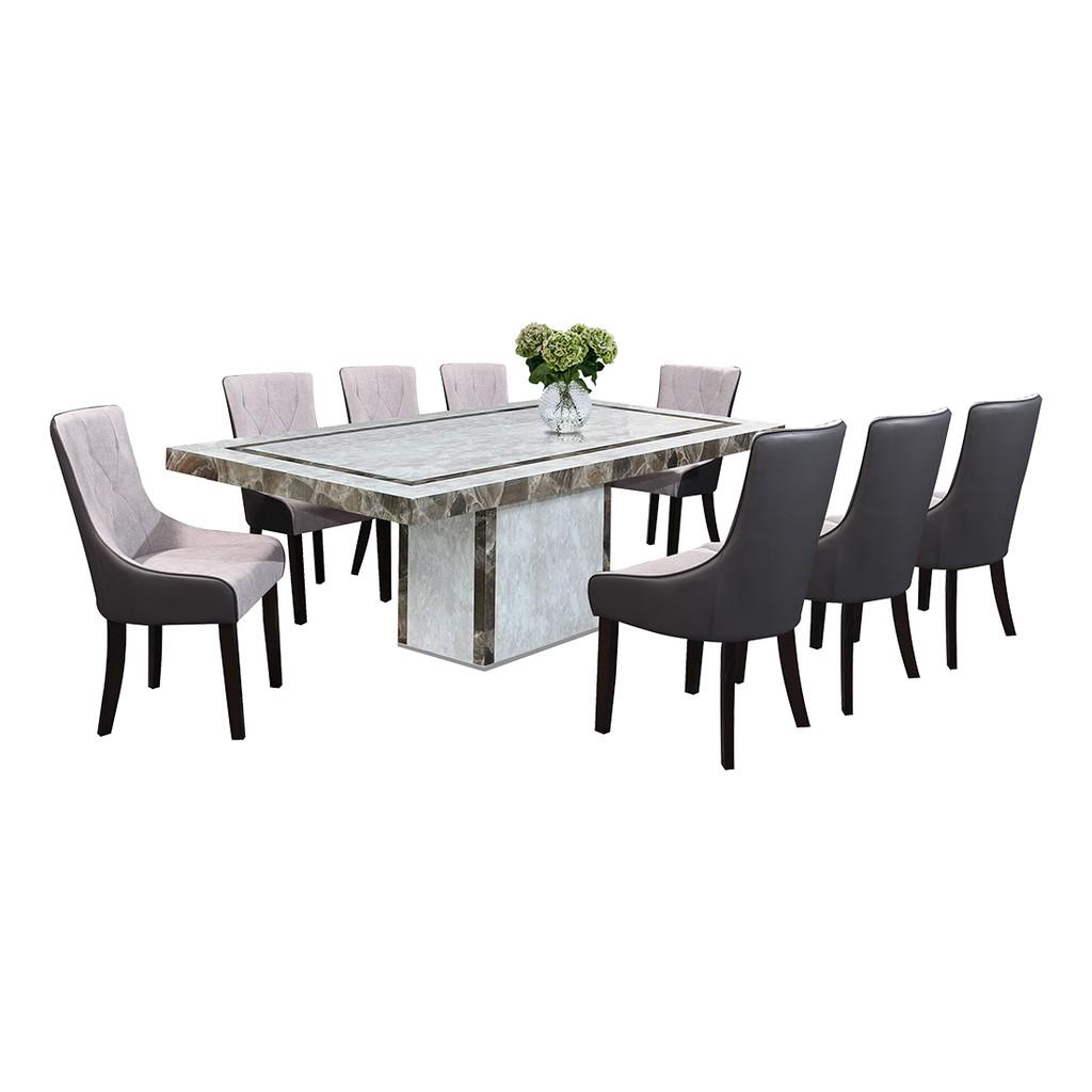 Nl Mtva19d5 Luxury Design Marble Dining Table Set 1 8 Shopee Malaysia