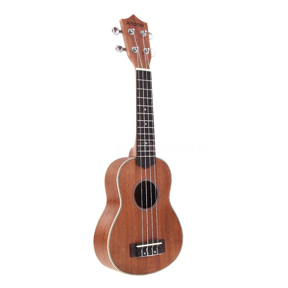 Ammoon Soprano Ukelele 21 Inch Platanus Body Rosewood Fingerboard Hawaiian Guitar Ukulele Set With Tuner Ukelele Parts Ture 100% Guarantee Musical Instruments