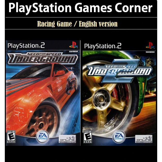 Ps2 Game Need For Speed Underground 1 2 Racing Game English