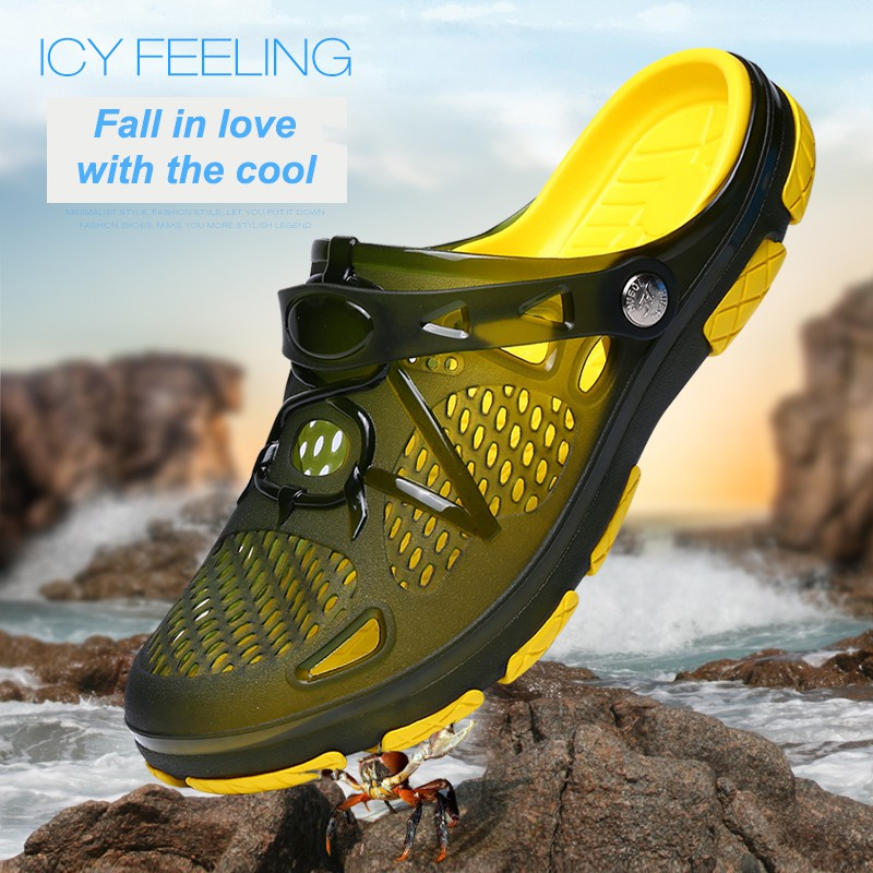 1881eed4c8d Fashion Summer Mens Odourless Breathable Beach Slippers Anti-slip PU Sandals  NEW