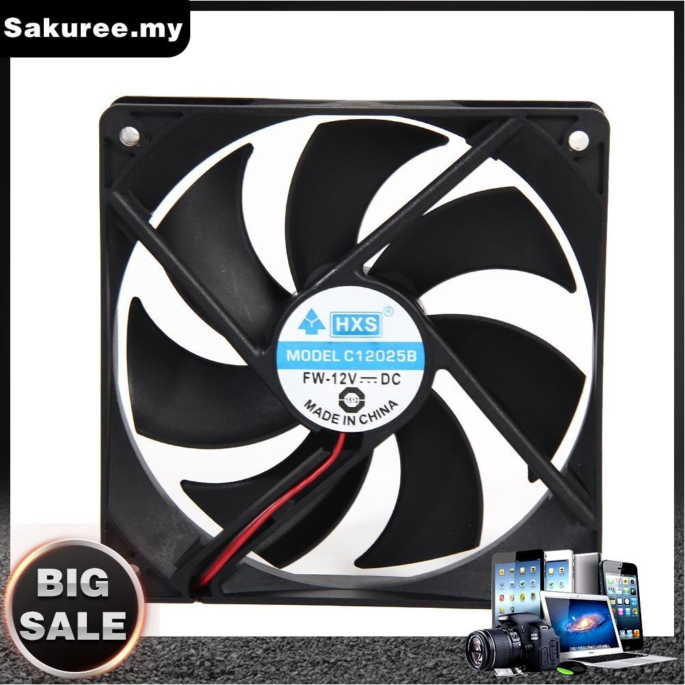 2pcs 120mm 120x25mm 12V 4Pin DC Brushless Desktop  PC Computer Case Cooling Fan