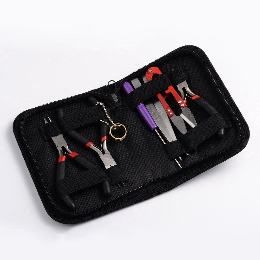 8PCS//Set Beading Work Tools Kit Beaders Package For DIY Crafts Jewelry Making