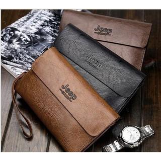 78285c704b76 2018 Fashion men's double clutch bag soft leather large capacity men ...