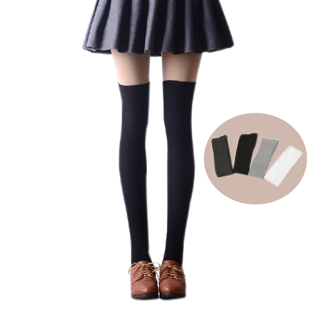 376c120b1 Warm Cotton Knit Over Knee Stockings Thigh High Socks