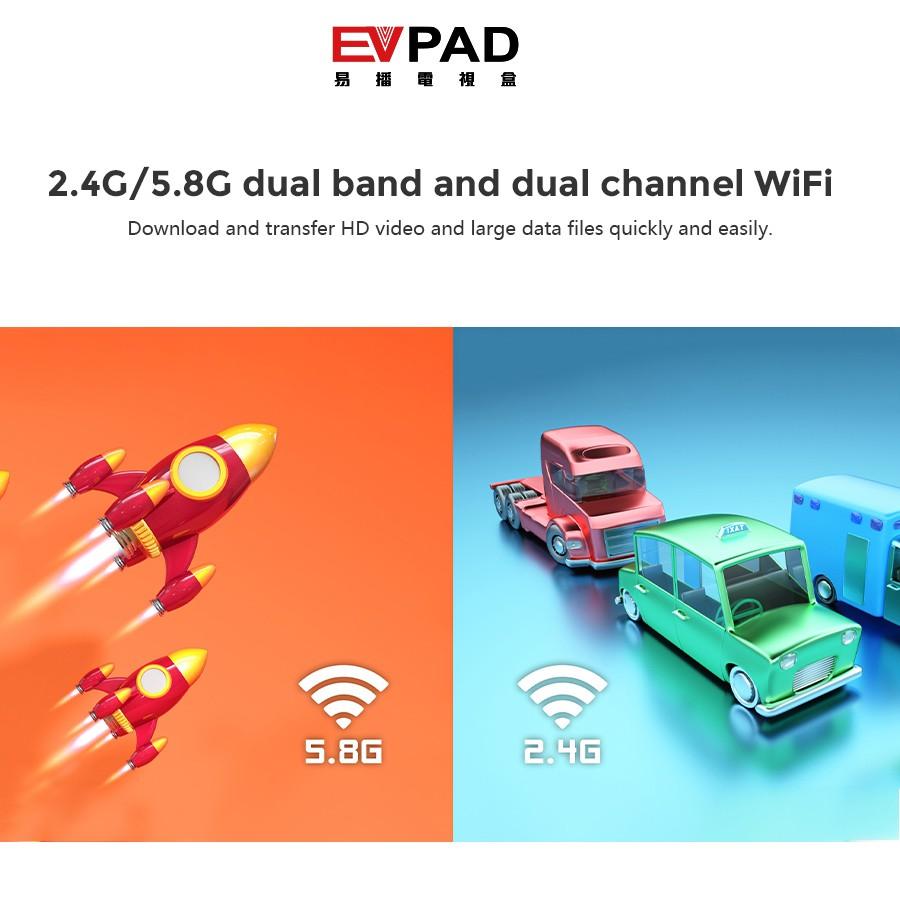 EVPAD 5S TVBOX MALAYSIA VERSION 2+16GB 6k 2.4GHz + 5.8 GHz Wifi