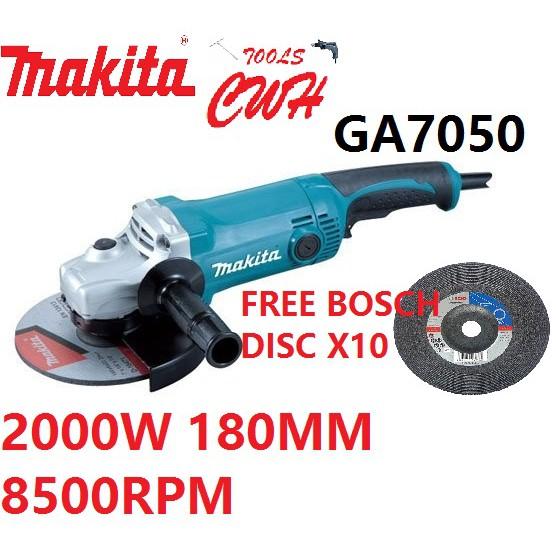 "MAKITA GA7050 2000W 180MM (7"") LARGE ANGLE GRINDER CUTTER GA 7050"