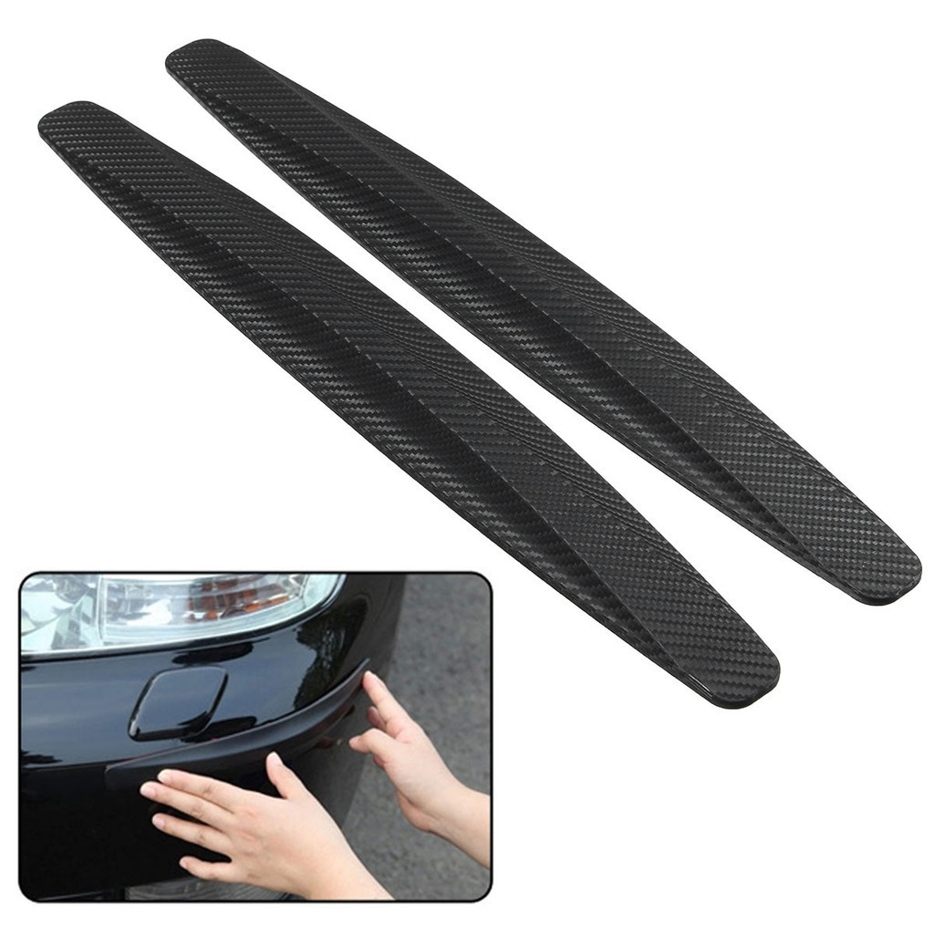 2Pc Carbon Fiber Anti-rub Strip Bumper Body Corner Mirror Protector Anti-scratch