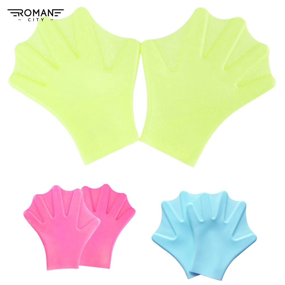 Romancity water sports 1 Pair PaddFins Flippers Webbed Diving Gloves