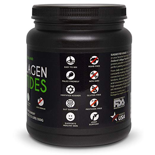 4848019b09784 New Zealand Collagen Peptides Powder (18.2oz) 50 Servings Unflavored,  Grass-Fed, Pasture-Raised, Non-GMO