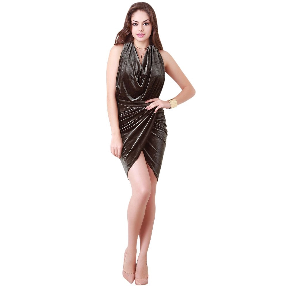 9870a4488fe8 ProductImage. ProductImage. Bettie SexyBack Draped Bodycon Dress (Army Green )
