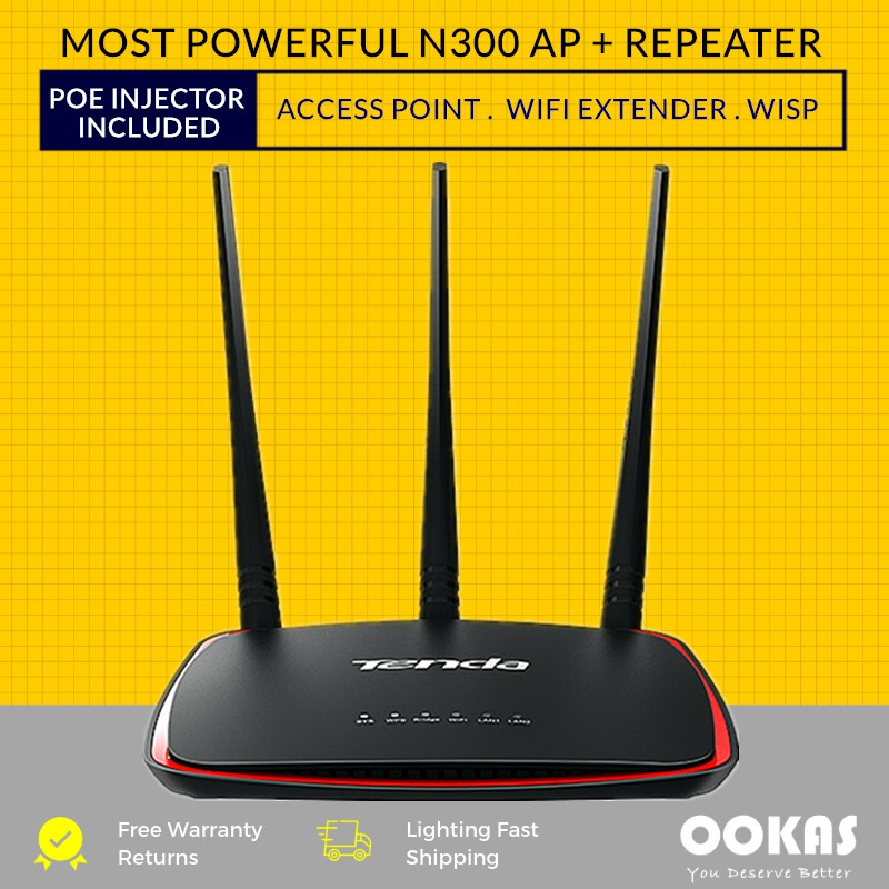 TENDA AP5 High Power Wireless N300 Universal Access Point / WiFi Repeater