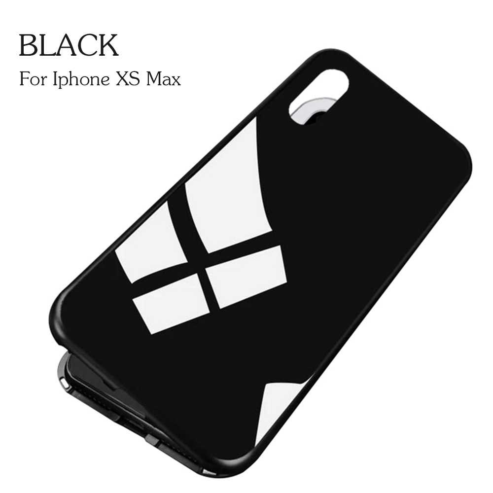 Magneto Magnetic Adsorption Case Clear Tempered Glass Black i-phone XS Max (Black)