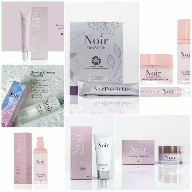 NOIR PURE WHITE/MOISTURIZER/ESSENCE/SERUM/CLEANSER/FACE MIST/UV  WHITE/LIPTINT