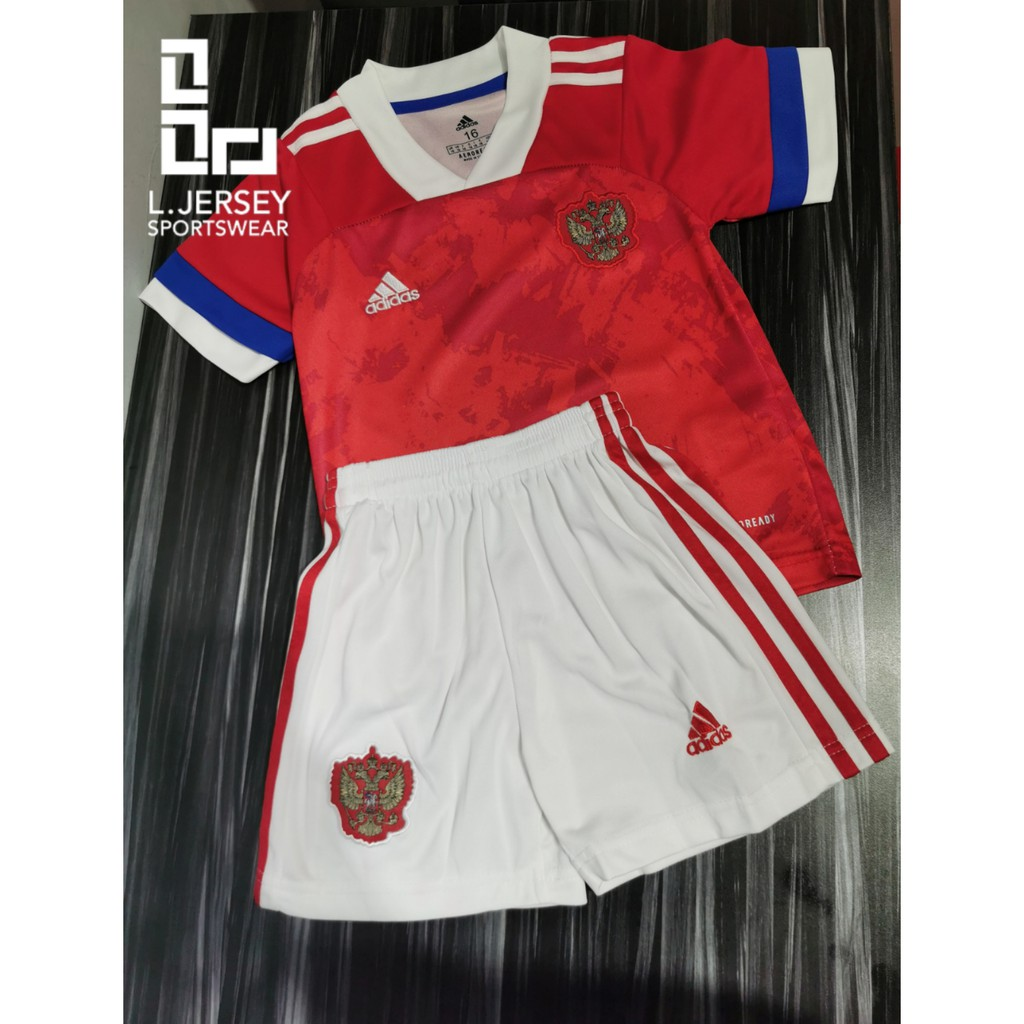 Russia Kid Home Euro Cup Season 20/21 CLIMALITE Fans Jersey