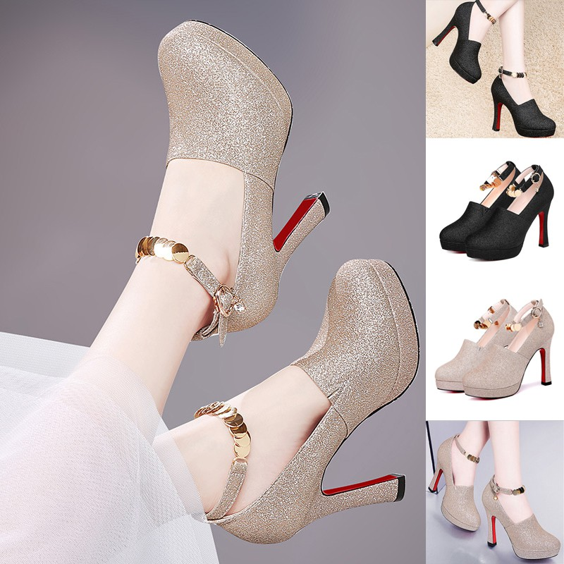 027773b6ac1 A Word Type Buckle Ventilation Low Heels - 3.5cm