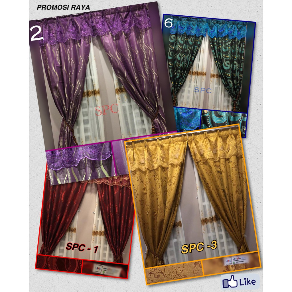 Ready Stock Promosi Modern Curtain