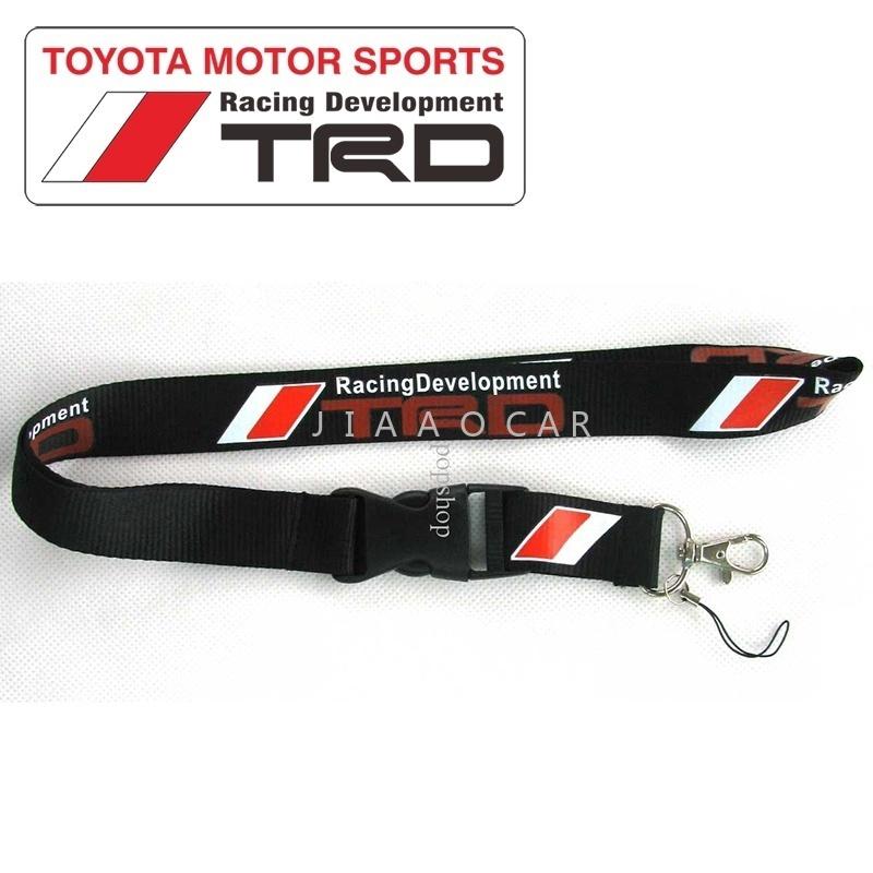 TRD Toyota Racing Lanyard Detachable Keychain Badge ID Phone Camera Strap New