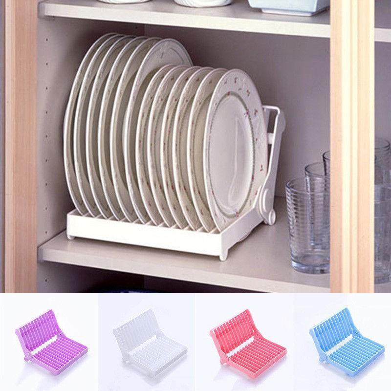 Kitchen Space Saving Dish Rack, Plate Storage Rack
