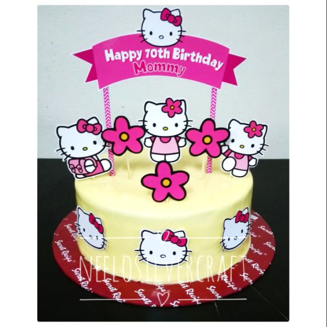 Admirable Hello Kitty Big Cake Topper For Birthday Cake Shopee Malaysia Funny Birthday Cards Online Fluifree Goldxyz