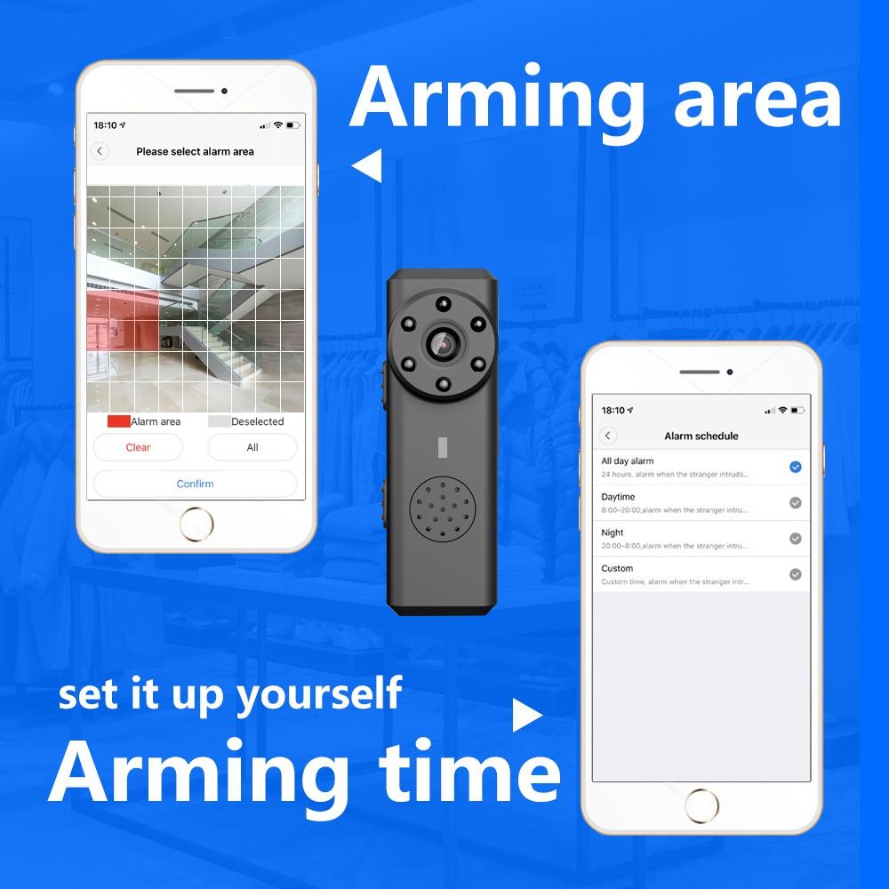 W6 Wifi Mini Hidden Spy Camera Home Security Small Cam Micro DVR Two-way Audio