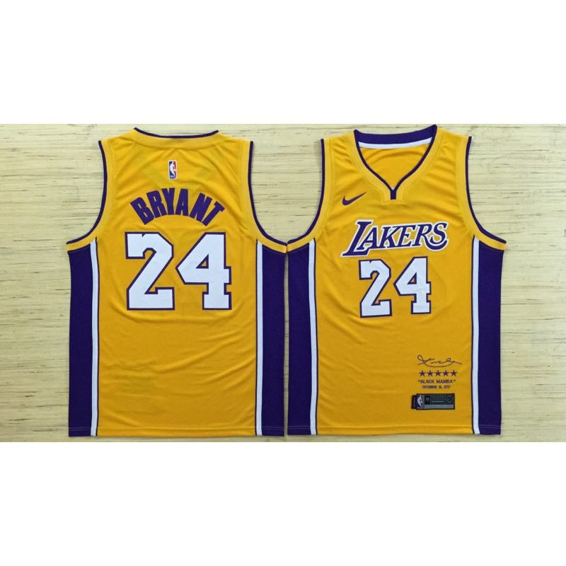992c22ff097f Kobe Bryant  24 Nike Los Angeles Lakers Icon jersey Black Mamba ...