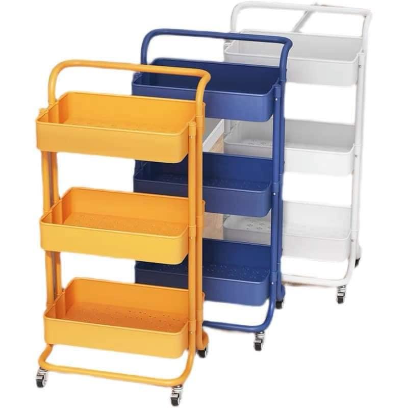 [ Ready Stock ] Second Generation IKEA Same Style Stroller   Stainless Steel Trolley   Multi Layer Trolley   二代IKEA同款推车