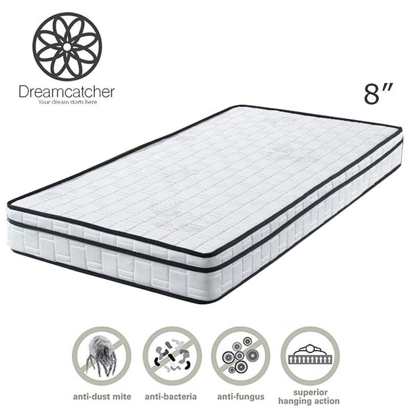 DREAMCATCHER 8″ single size Eurotop reborn foam single mattress