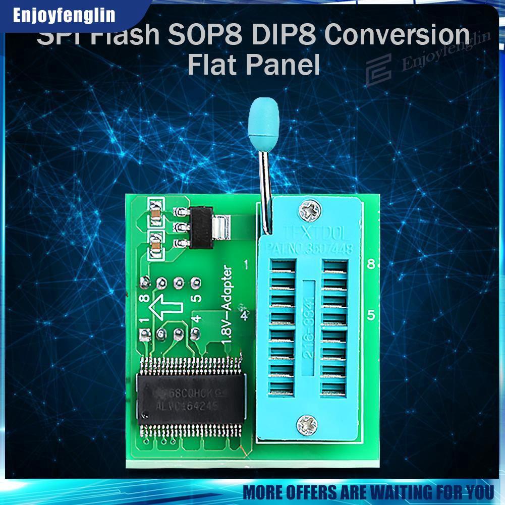 enj✿1.8V Adapter 1.8V SPI Flash SOP8 DIP8 W25 MX25 Programmers Motherboard