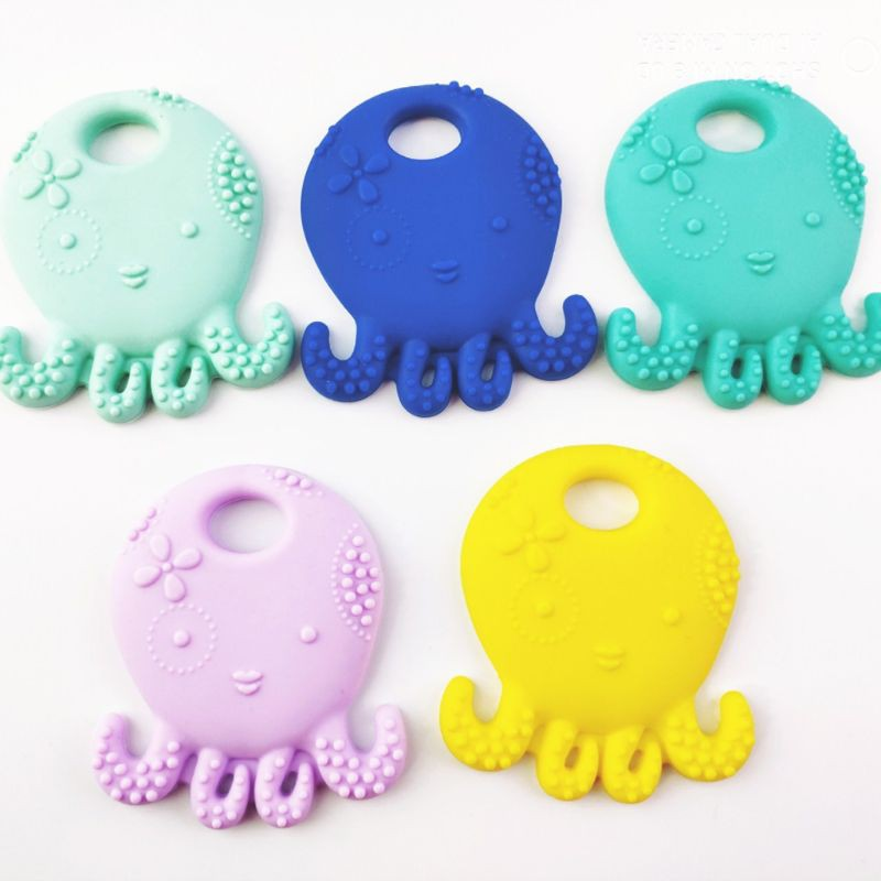 Toddler Octopus Molar Baby Teether Relieve Long Tooth Pain Gift Baby Molar Toy