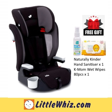 Joie: Elevate Booster Car Seat - TWO TONE BLACK (1 TO 1 CRASH EXCHANGE) (WITH FREE GIFT)
