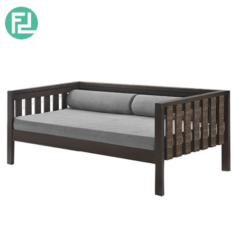 Furniture Direct MAXI SINGLE SIZE WOODEN DAYBED WITH MATTRESS AND BOLSTERS