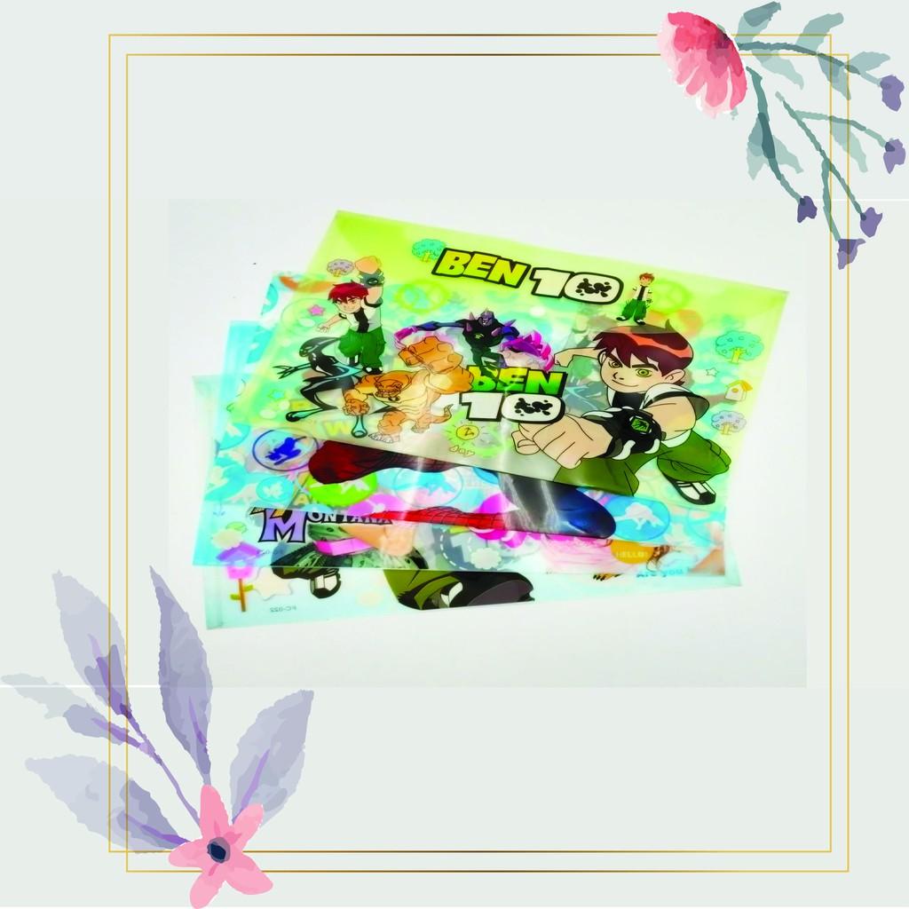 [READY STOCK] Fancy Cute Transparent Cartoon Plastic/ Documents /A4 Paper File + FREE Mechanical Pencil 0.5mm
