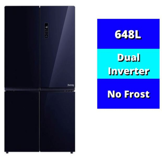 TOSHIBA 648L 4-DOOR REFRIGERATOR GR-RF646WE-PGY(24) 3 SYSTEMS,CONVERT Zone,DUAL INVERTER