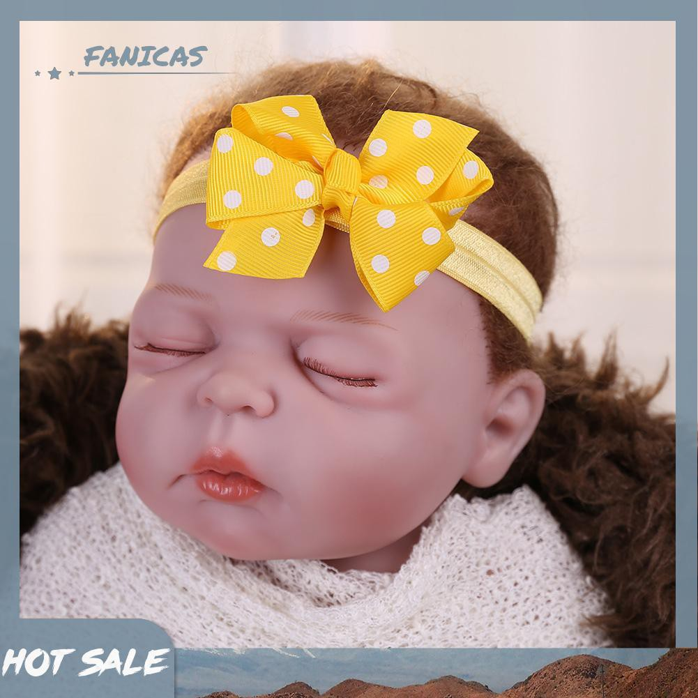 Cute Toddler Infant Baby Girls Bowknot Headband Velet Stretch Hairband Headwear