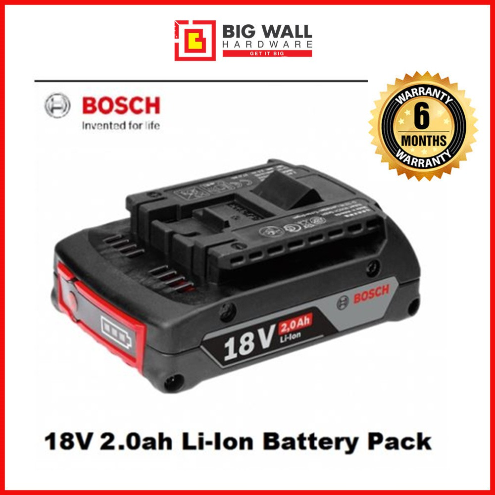 Bosch GBA 18V 2.0Ah/3.0Ah/4.0Ah Professional Lithium Ion Battery Pack for GBH 180-LI Rotary Hammer Drill