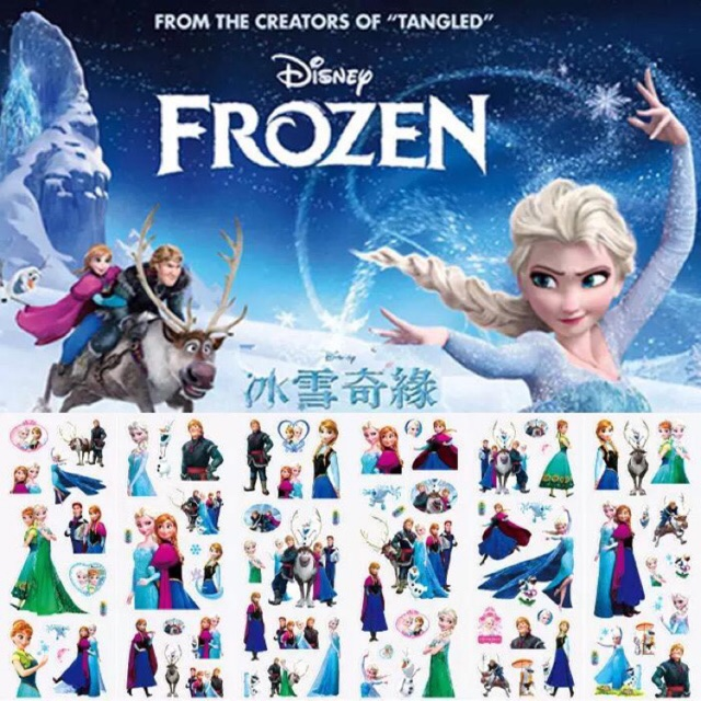 Disney Frozen & Spidermen Sticker..........want?