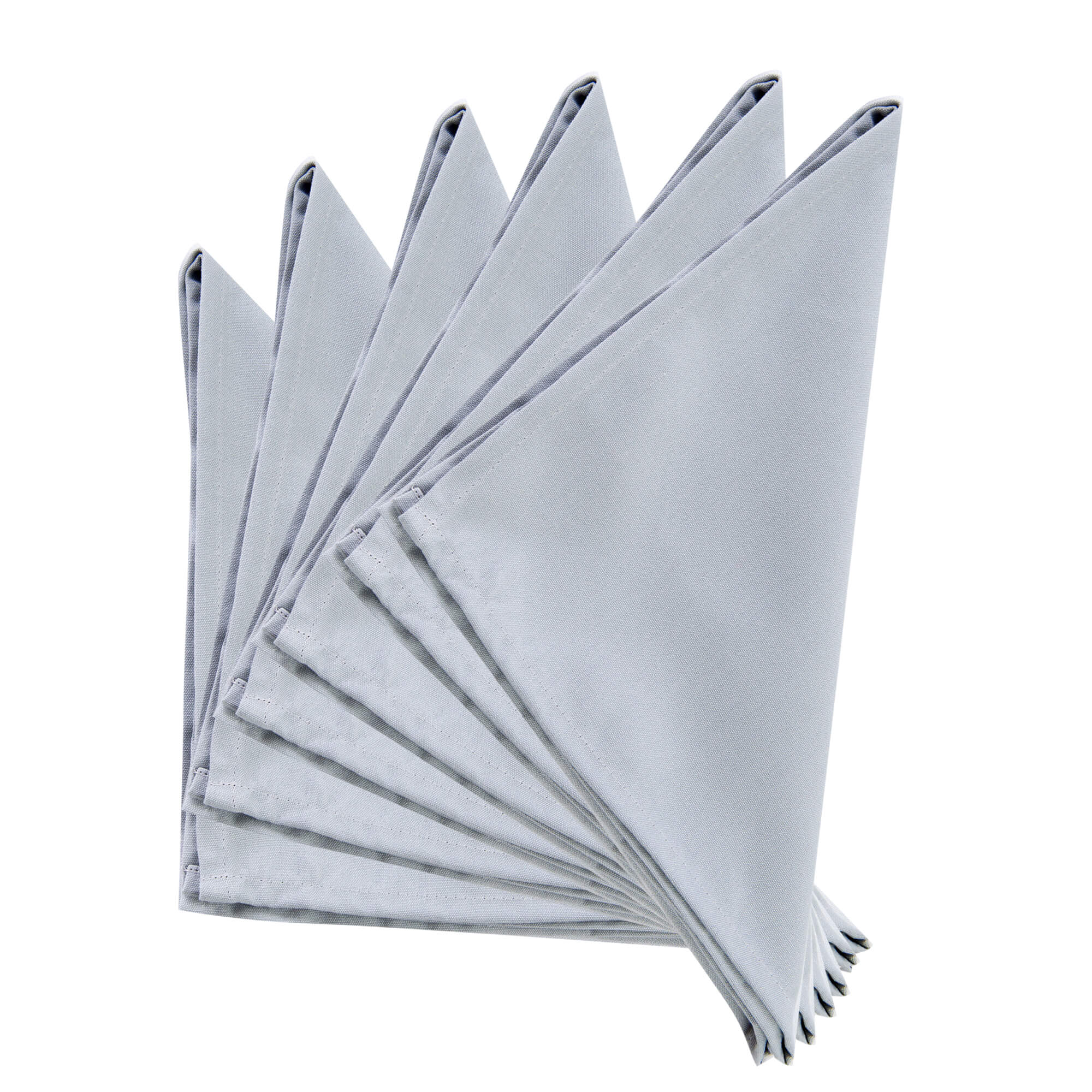Plain IT Grey Thick Spun Polyester Dinner Cloth Table Napkins/Fabric Serviette 51x51cm. Pack of 2,4 or 6 (Grey)