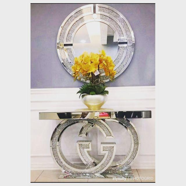 Preorder Diamond Crush Console Table Gucci Channel Lv Silver Gold Rose Shopee Malaysia