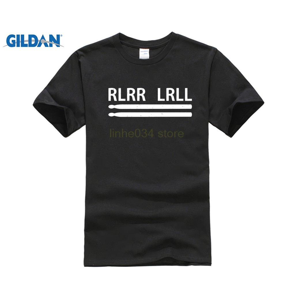 Diy RLRR LRLL Drummer T-SHIRT Drum Band