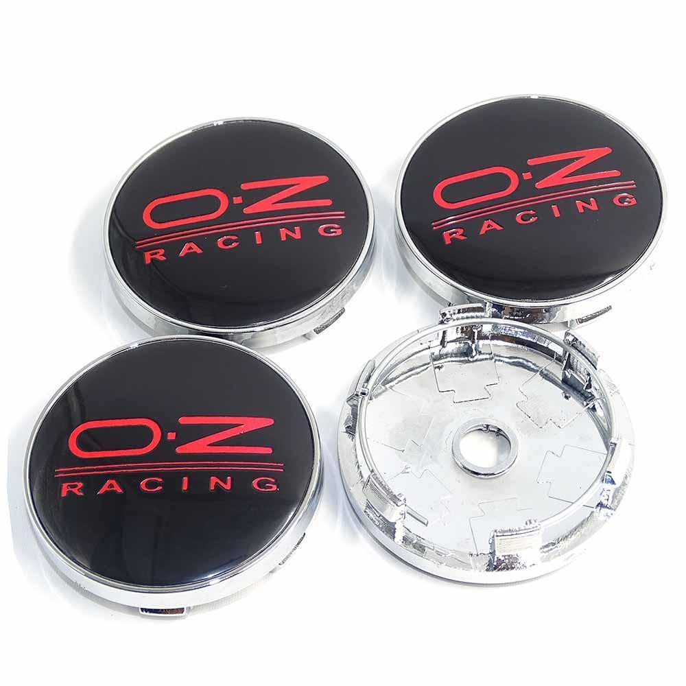 4pz 60mm Oz Car Badge Emblem Sticker Wheel Center Cover Cap Hub For Vw Bmw Kia