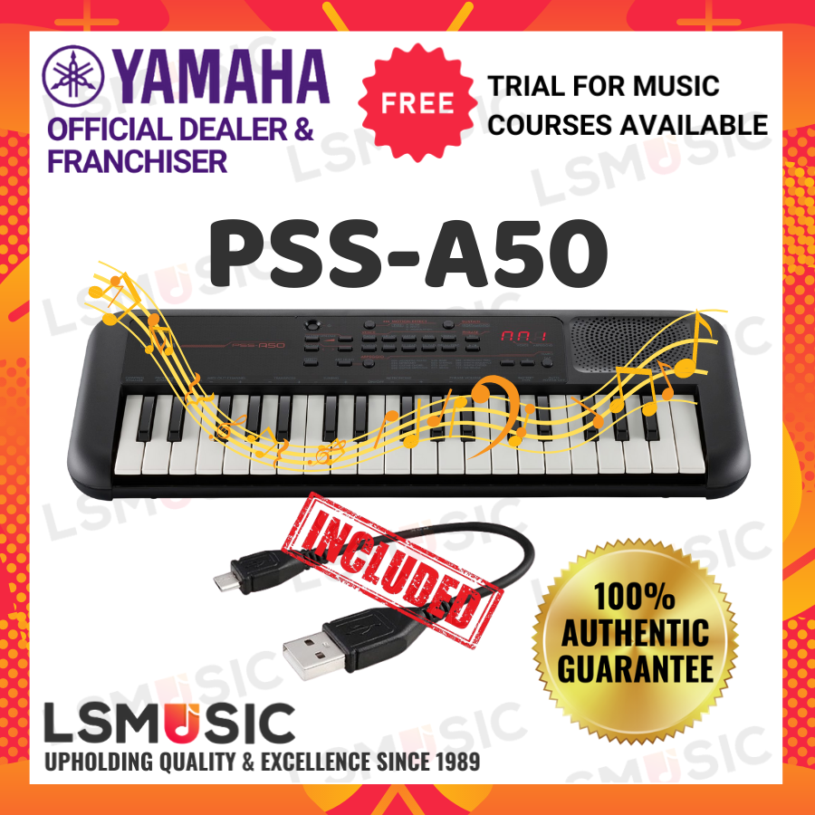Yamaha PSS-A50 37 Keys Mini Piano Electronic Keyboard Piano (PSSA50 / PSS A50) Portable piano Yamaha murah piano