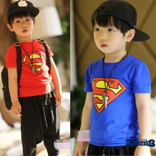 1be666ad62 Kids Baby Boys Summer Superman Short Sleeve T-shirt Cotton